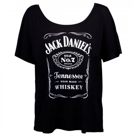 Jack Daniels Bottle Label Loose Fit Women's  Tshirt