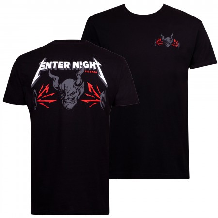 Arrogant Bastard Men's Black Enter Night T-Shirt