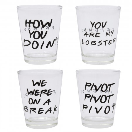 Friends Shot Glass 4-Pack