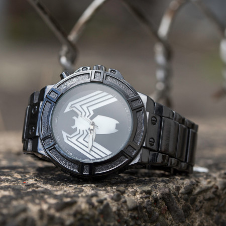 Venom Backlight Symbol Watch with Metal Band