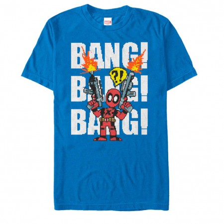 Deadpool Taco Pile Blue Mens T-Shirt