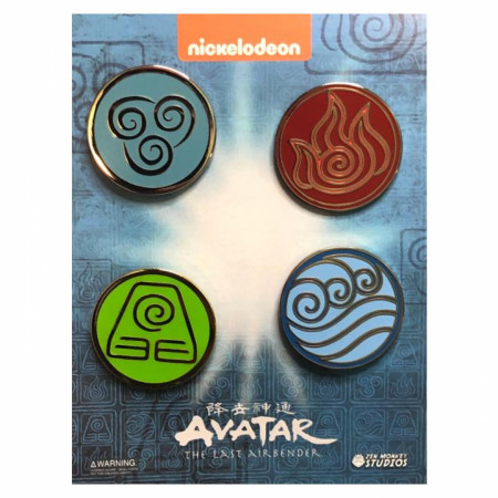 Avatar: The Last Airbender The Four Elemental Bending Arts Enamel Pin 4-Piece Set