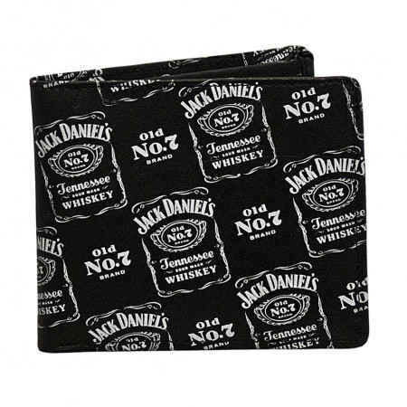 Jack Daniels Repeat Logo Old No. 7 Bi-fold Wallet