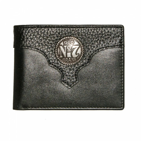 Jack Daniel's Old No. 7 Logo Leather Billfold Wallet