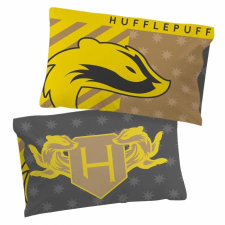 Harry Potter Hufflepuff Pride Single Reversible Pillowcase