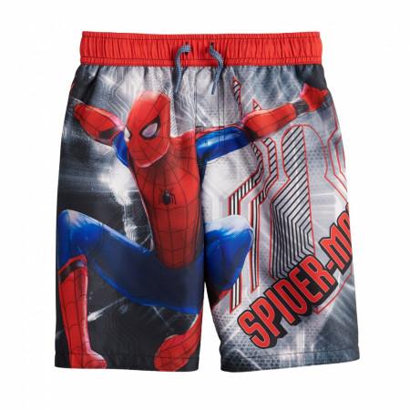 Marvel Spider-Man Swinging Into Action Youth Swim Trunks
