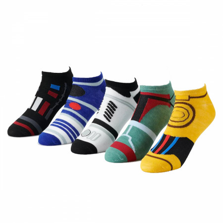 Star Wars Character Costume 5-Pack Shorty Socks
