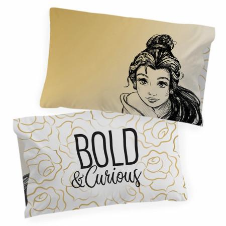 Disney Princess Belle Sketch Single Reversible Pillowcase