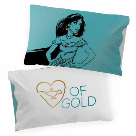 Disney Princess Jasmine Sketch Single Reversible Pillowcase