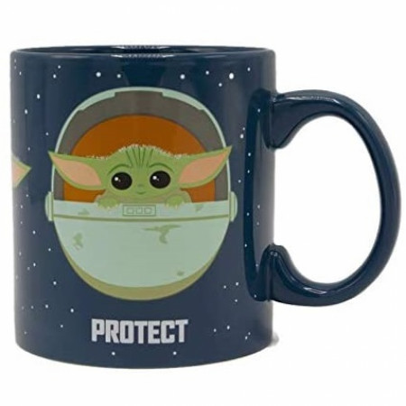 The Mandalorian The Child Snack Attack Protect 14 Oz. Mug