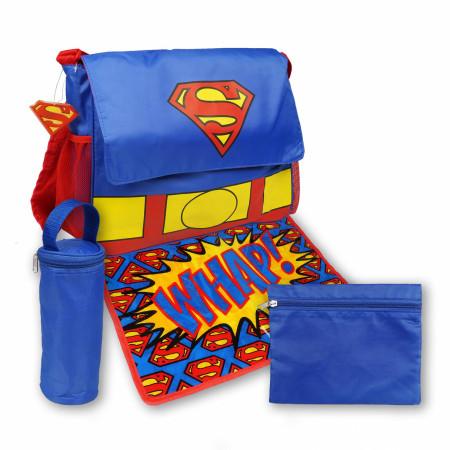Superman Symbol 5-Piece Diaper Bag Set