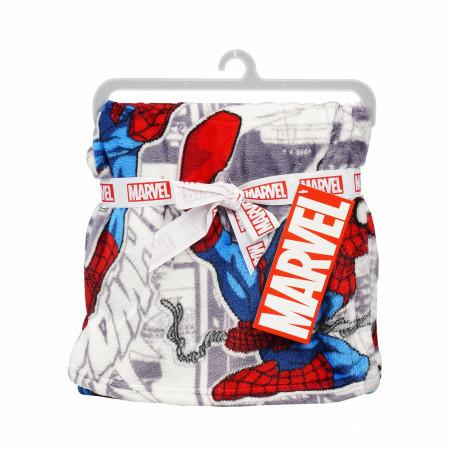 Spider-Man Flannel Baby Blanket