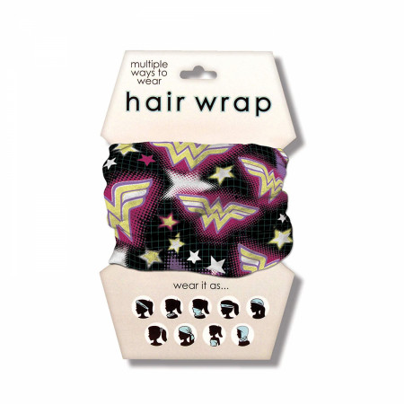 Wonder Woman Bright Symbols Hair Wrap