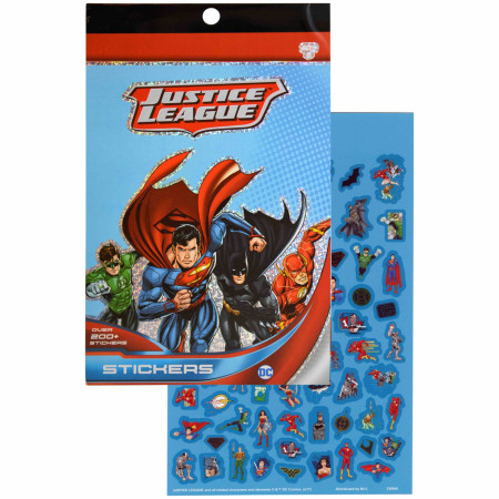 Justice League 4 Sheet Foil Cover 200+ Stickers