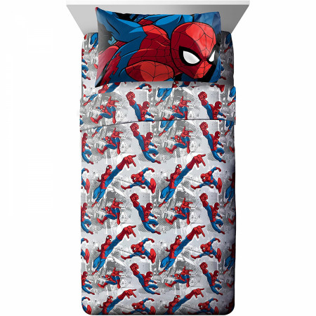 The Amazing Spider-Man 3-Piece Twin Sheet Set Bedding