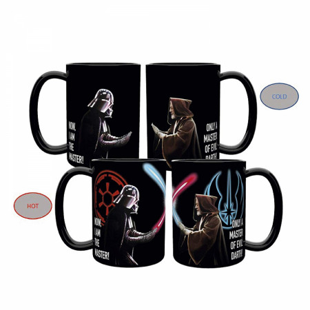 Star Wars Vader vs Obi Wan Color Change Mug