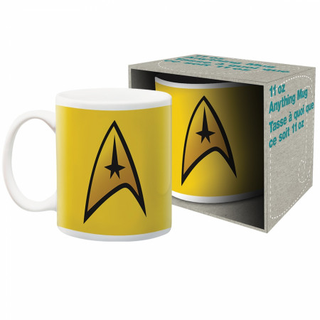 Star Trek Captain Logo Ceramic Mug