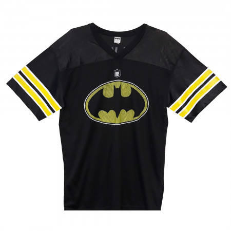 Batman Logo Men's Black Football Jersey