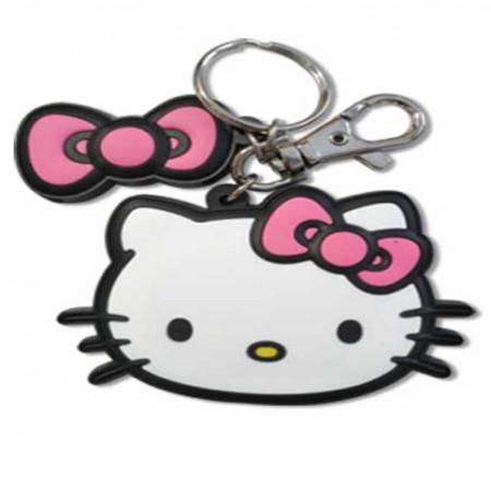 Hello Kitty Big Face Key Chain