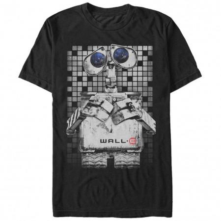 Disney Pixar Wall E Wall Eyes Black T-Shirt
