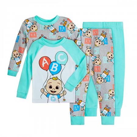 Cocomelon 4-Piece Toddler Pajama Set