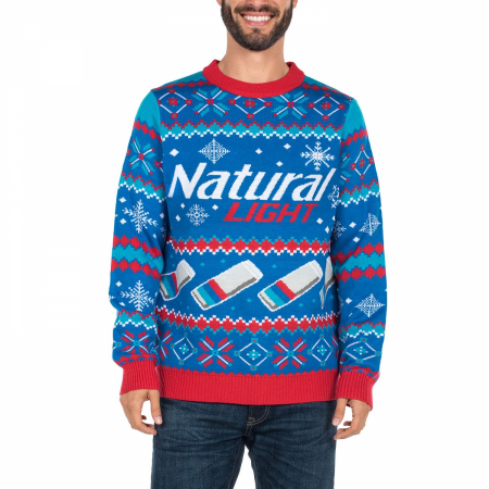 Natural Light Beer Ugly Christmas Sweater