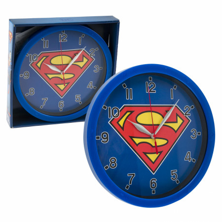"DC Comics Superman Symbol Print 9 3/4"" Wall Clock"