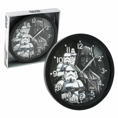 "Star Wars Darth Vader and Stormtroopers 9 3/4"" Wall Clock"