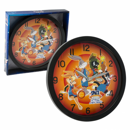 "Looney Tunes Space Jam Characters Print 9 3/4"" Wall Clock"