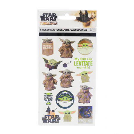 Star Wars The Mandalorian The Child Grogu Sticker Sheet 4-Pack