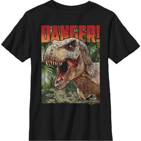 Jurassic World DANGERS Black Youth T-Shirt