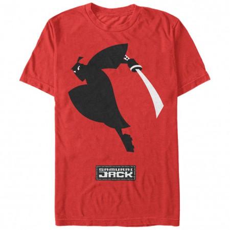 Samurai Jack Black White Red T-Shirt
