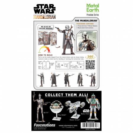 Star Wars The Mandalorian Character Premium Color 3D Metal Earth Model Kit