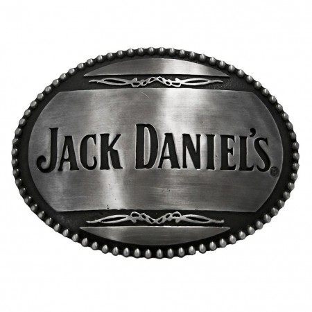 Jack Daniels Text Logo Belt Buckle