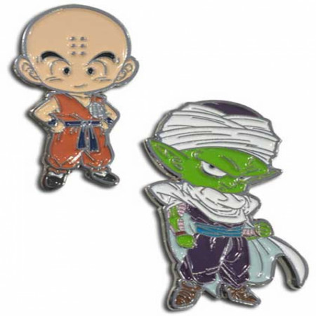 Dragon Ball Super Krillin & Piccolo Enamel Pins 2-Pack