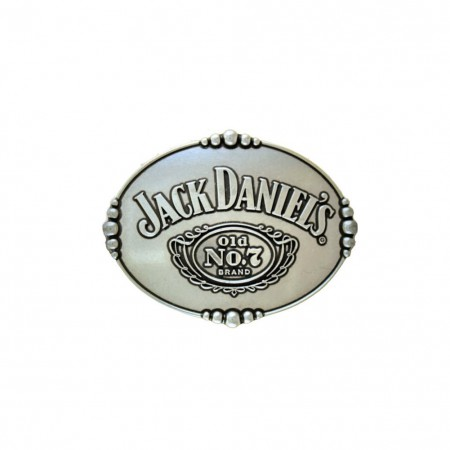 Jack Daniels Old No. 7 Silver Belt Buckle