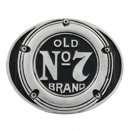 Jack Daniels Old No. 7 Round Logo Belt Buckle