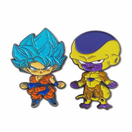 Dragon Ball Super Super Saiyan Goku & Golden Frieza Enamel Pin 2-Pack