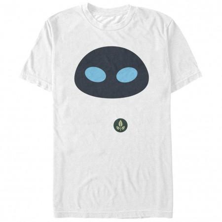 Disney Pixar Wall E Eve Face White T-Shirt