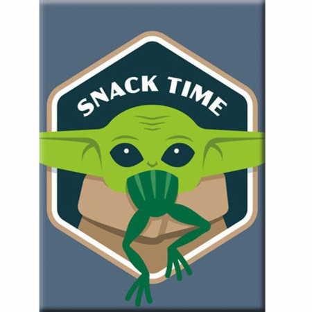 Star Wars The Mandalorian The Child Grogu Snack Time Magnet
