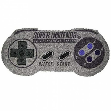 "Nintendo SNES Controller Shaped 17""x 29"" Doormat with Non-Skid Back"