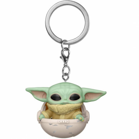 Star Wars The Mandalorian Grogu Child in Canister Funko Pop! Keychain