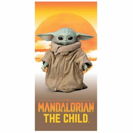 "Star Wars The Mandalorian the Sunset Child 28"" x 58"" Beach Towel"
