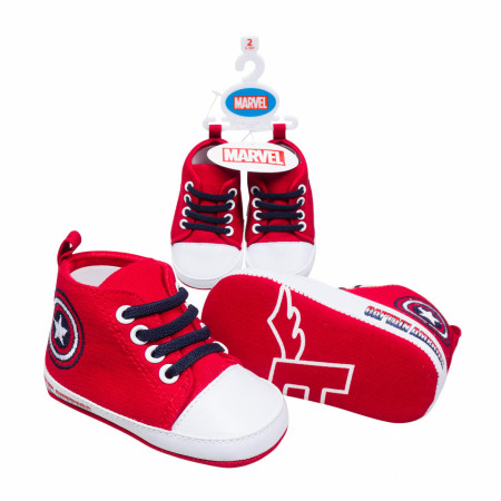 Captain America Symbols Baby Shoes