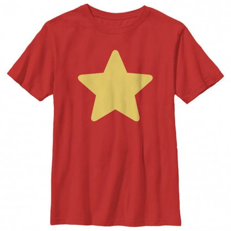 Steven Universe Steven Star Red Youth T-Shirt