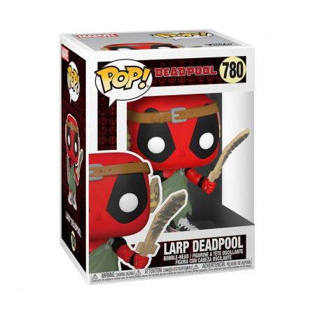 Deadpool 30th Anniversary LARPing Deadpool Funko Pop! Vinyl Figure
