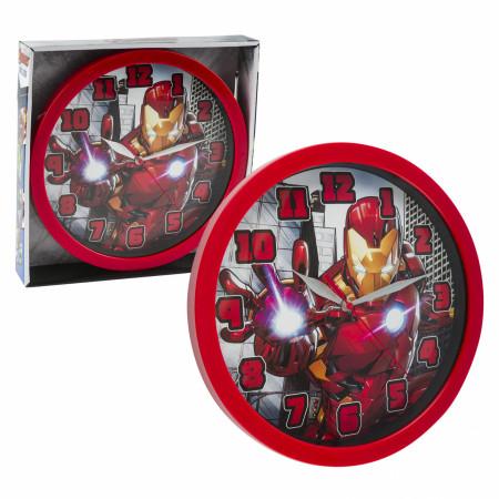 "Marvel Comics The Iron Man Character 9 3/4"" Wall Clock"