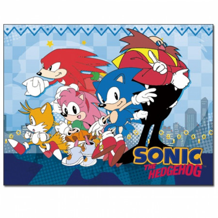 Sonic the Hedgehog Sublimated Throw Blanket