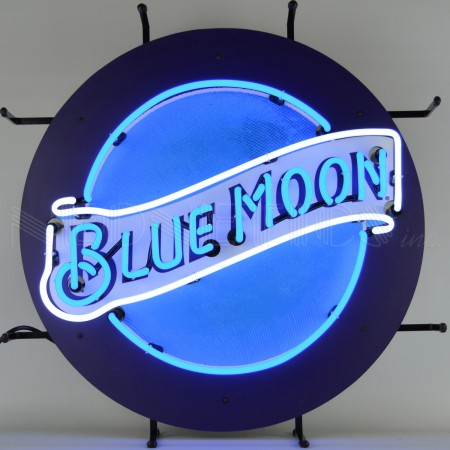 Blue Moon Neon Sign