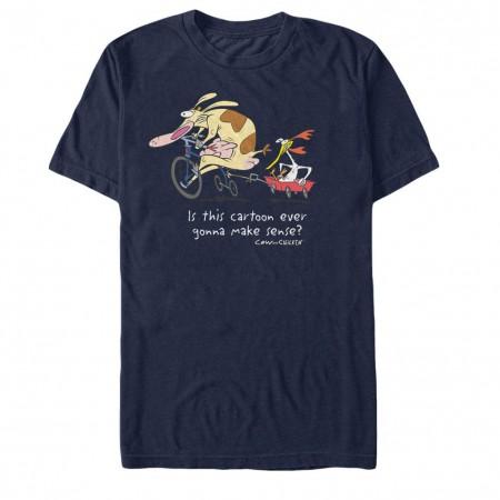 Cow & Chicken Show Makes No Sense Blue T-Shirt